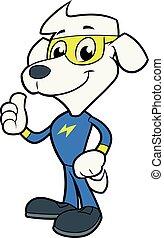 Dog hero posing 2