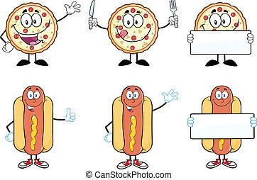 dog, hete reeks, pizza, verzameling