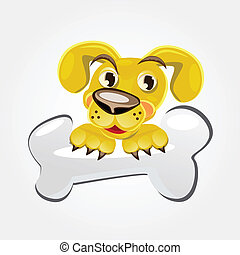 Dog Holding Bone