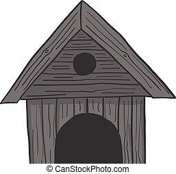 Dog house icon isolated on white background