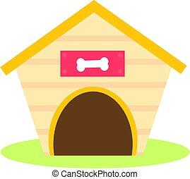 Dog house icon. Isolated vector clip art