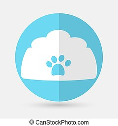 dog house icon on a white background