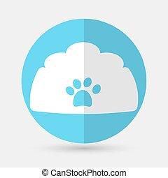 dog house icon on a white background