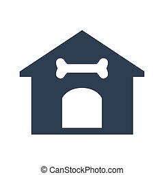 Dog house icon on white background.