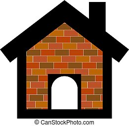 Dog house icon on white background. Vector illustration
