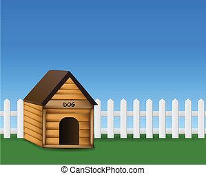 Dog house in the garden
