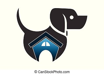 dog house logo vector