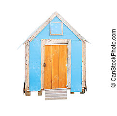 dog house on white