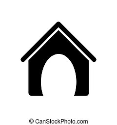 dog house pet accesory icon vector illustration graphic...