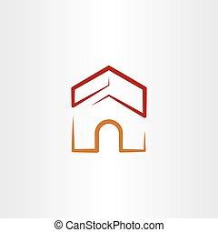 dog house vector logo illustration icon