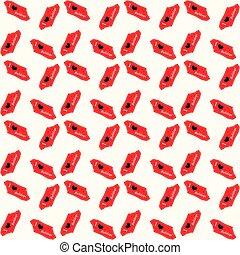 Dog i love bulldogs heart valentine vector seamless pattern wallpaper on white background. eps10