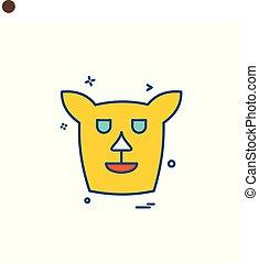Dog icon design vector