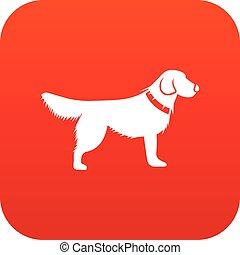 Dog icon digital red