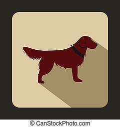 Dog icon, flat style