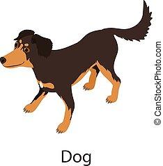 Dog icon, isometric style