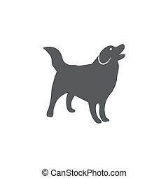 Dog icon on white background