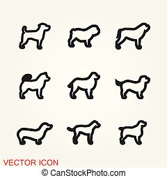 Dog icon vector. Element for your design