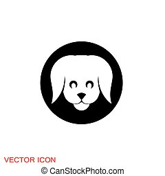 Dog icon. Vector element for your design