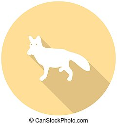 dog icon with a long shadow