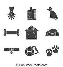 Dog icons set