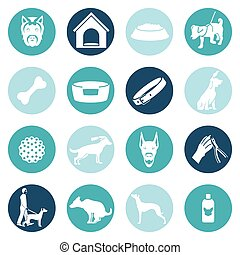 Dog icons white