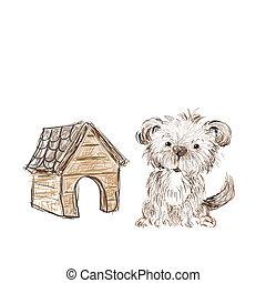 Dog Illustration Hand drawn