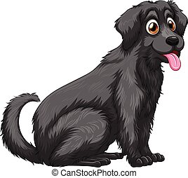 Dog - Illustration of a close up black dog