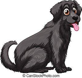 Dog - Illustration of a close up black dog
