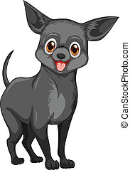 Dog - Illustration of a small black dog