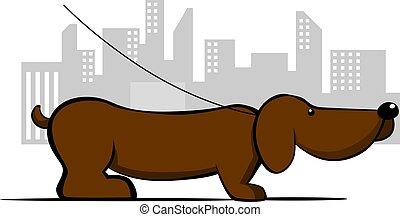dog - Illustration of brown colour dog