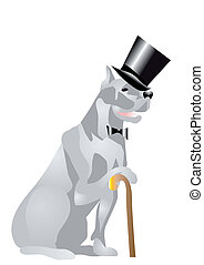dog in top hat