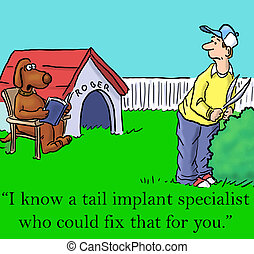 "Dog knows an implant specialist - ""I know a tail implant..."