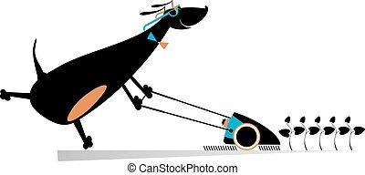 Dog lawnmower