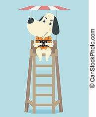 Dog Life Guard Illustration