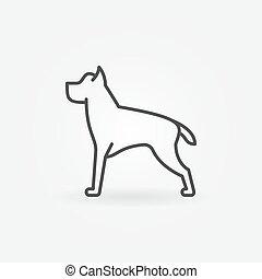 Dog line vector minimal icon