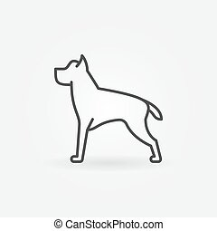 Dog line vector minimal icon