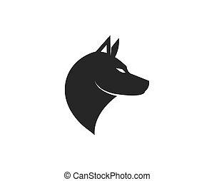 dog logo icon vector template