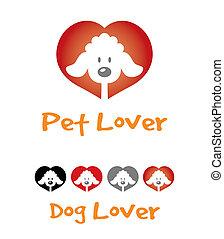Dog lover symbol