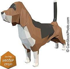 Dog. Low poly style. Vector
