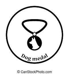 Dog medal icon