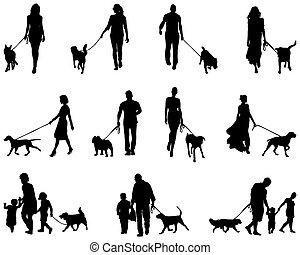 dog, mensen