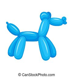 Dog of balloons. Vector illustration on a white background.