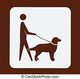 Roadsign For All Dogs Must Be On Leash