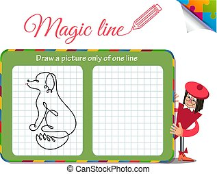 dog only of one line