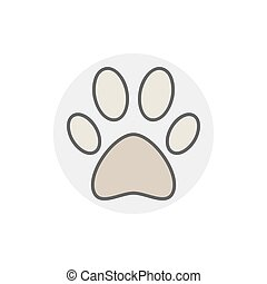 Dog or cat paw icon