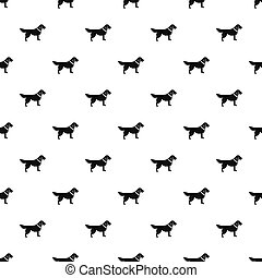 Dog pattern, simple style