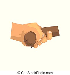 Dog paw and human hand shaking, friendship, training,...