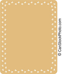 Dog Paw Background Border Frame - Dog paw background,...