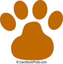 Dog Paw Clip Art - Dog paw clip art