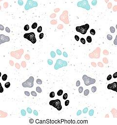 Dog paw print vector Vexture